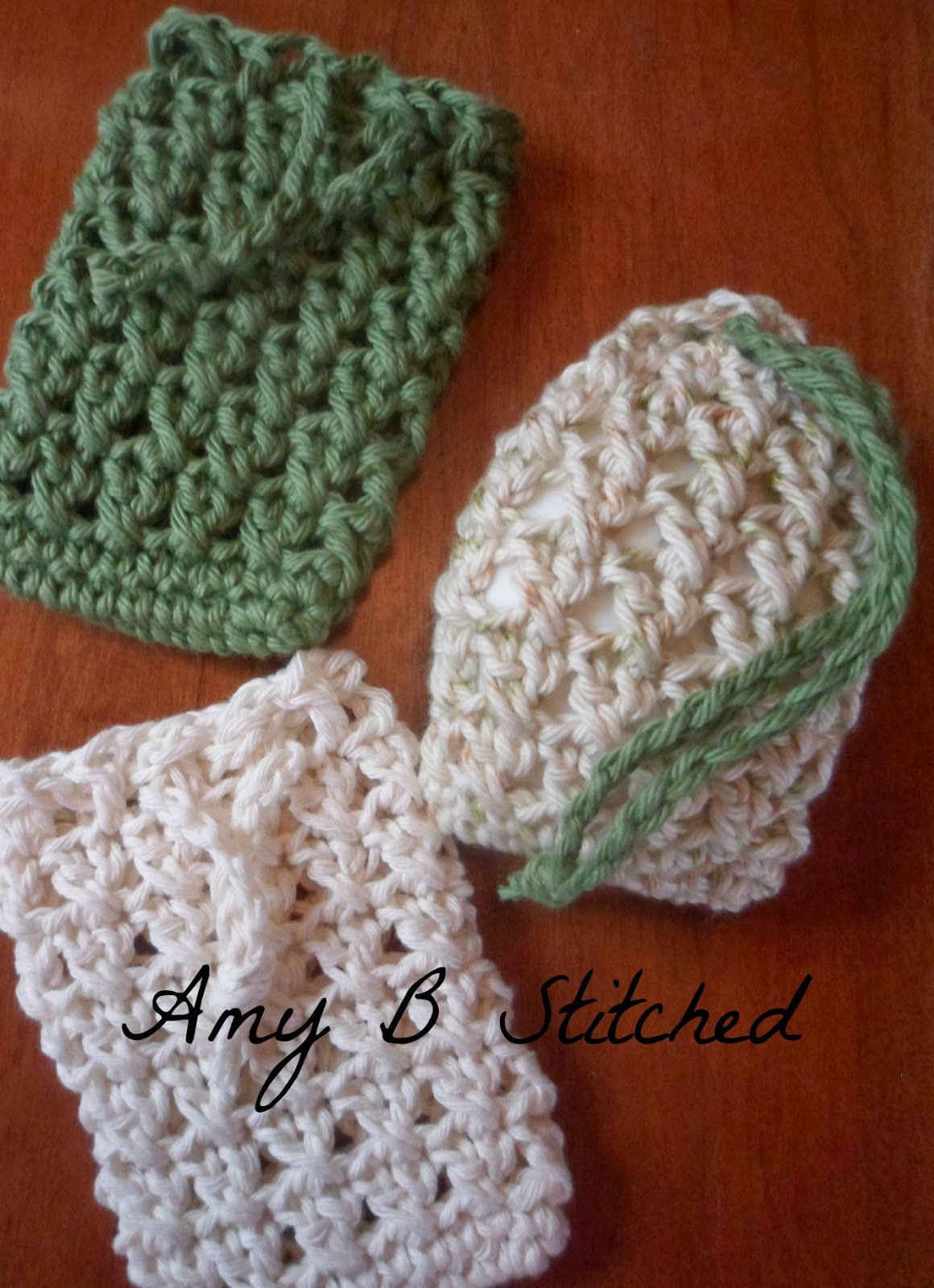 A Stitch At A Time For Amy B Stitched Cross Stitch Soap Saver Pouch