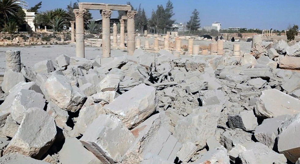 联合国教科文组织谴责ISIS炸毁帕尔米拉古神庙(UNESCO condemns destruction of Palmyra's ancient temple)
