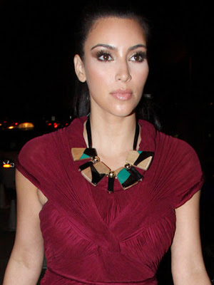 Kim Kardashian Black Statement Necklace