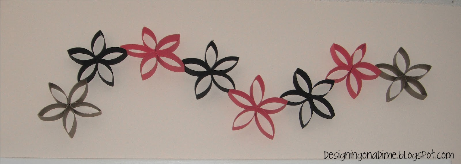 Designs decor on a dime diy wall art made out of for Diy paper wall art