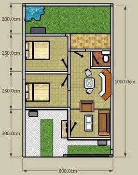 Desain Rumah Minimalis 2 Lantai Type 36/90