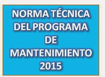 NORMA TÉCNICA DE MANTENIMIENTO 2015