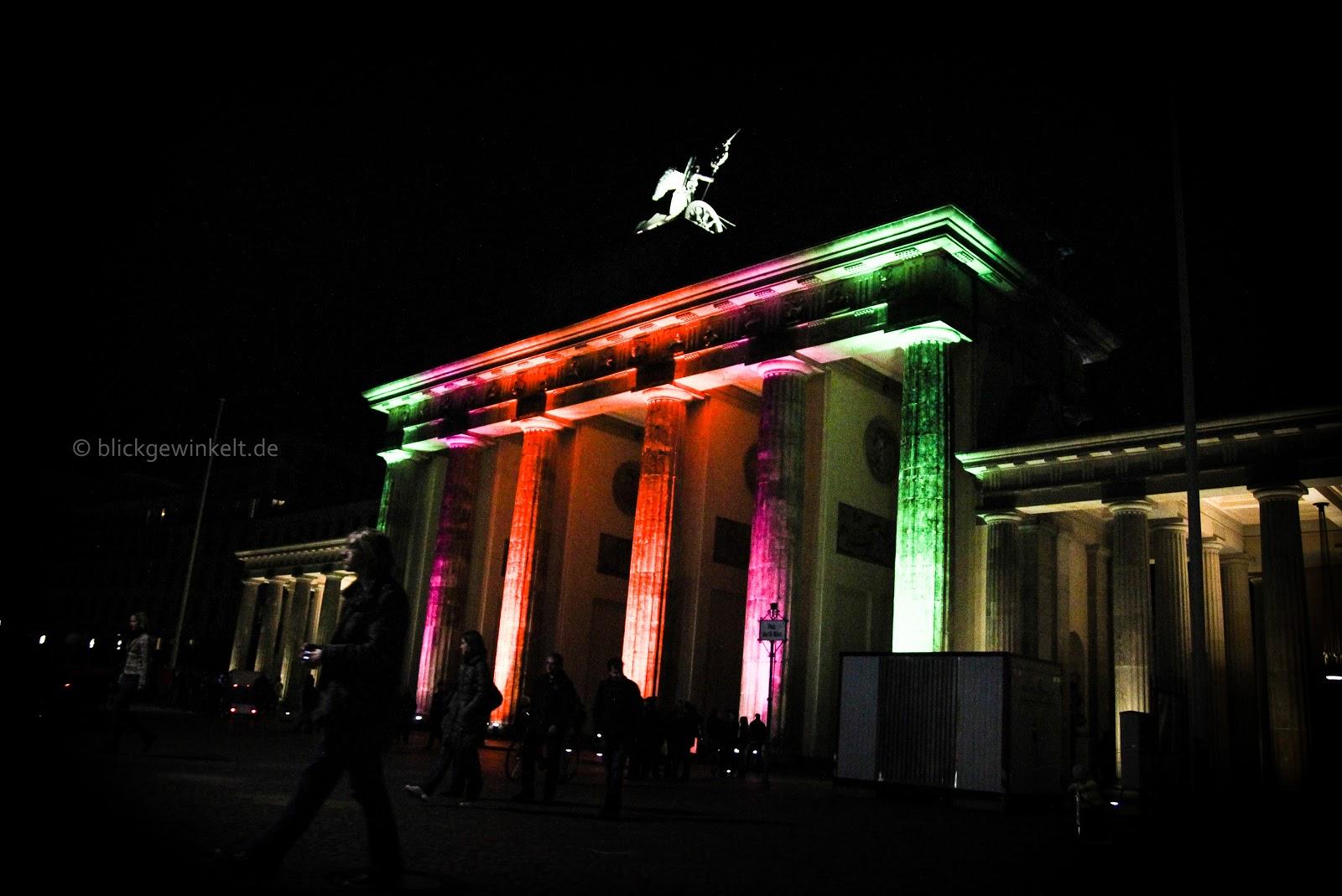 Das Brandenburger Tor beim Festival of Lights 2012