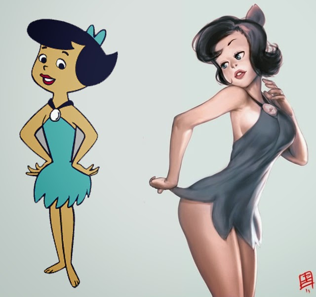 Sexy girl cartoon characters
