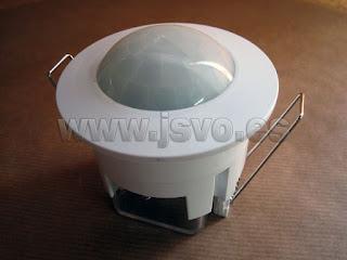 Sensor de movimiento por infrarrojos empotrable