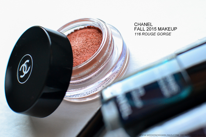 Chanel Les Automnales Fall 2015 Makeup Collection - Illusion DOmbre - 116 Rouge Gorge - Swatches