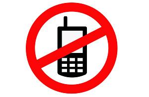 icono logo prohibido uso movil: