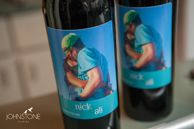 Personalized wedding wine bottles l Plumpjack Squaw Valley Wedding l Johnstone Studios l Take the Cake Event Planning