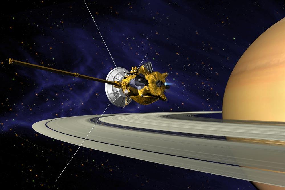 Космическая станция Кассини отмечает юбилей