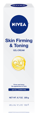 review:  NIVEA q10 skin firming + toning gel-cream.