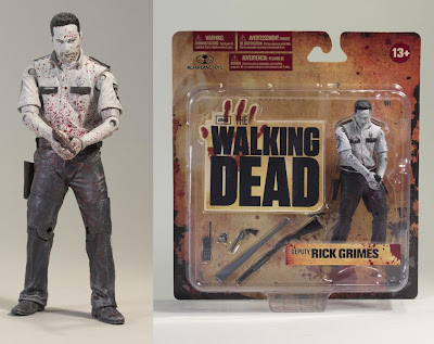 Toys R Us Exclusive Bloody Black and White Rick Grimes The Walking Dead TV Series Action Figure by McFarlane Toys