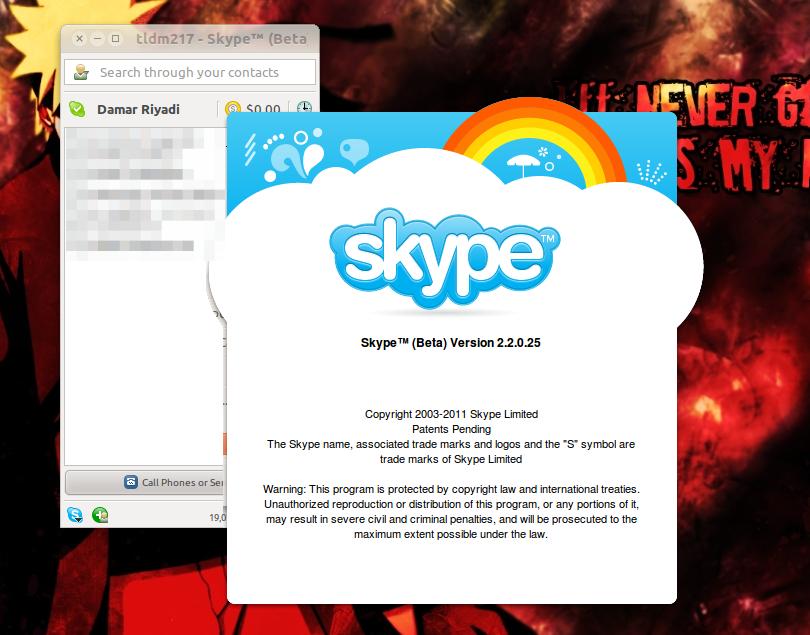 Skype 2.2 Beta di Ubuntu 10.10 Maverick Meerkat