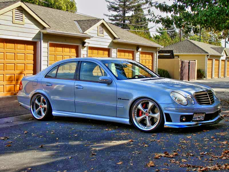 Mercedes benz e55 amg w211 on work vs kf benztuning for Mercedes benz e55