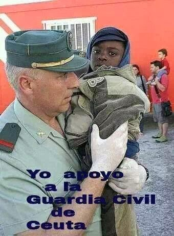 La Guardia Civil salva personas, no asesina inmigrantes...