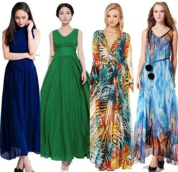 Styles of maxi dresses