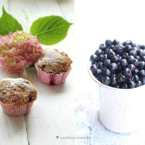 Muffinki jagodowo-kokosowe (beztłuszczowe)