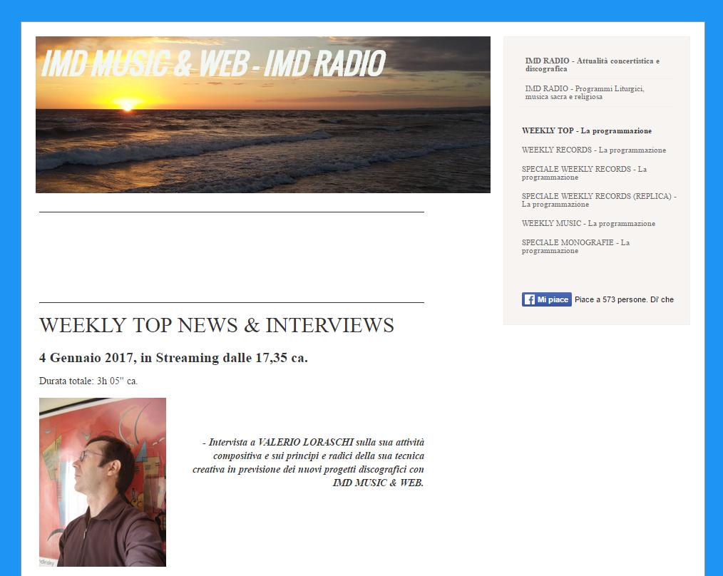 Link: intervista su IMD Radio