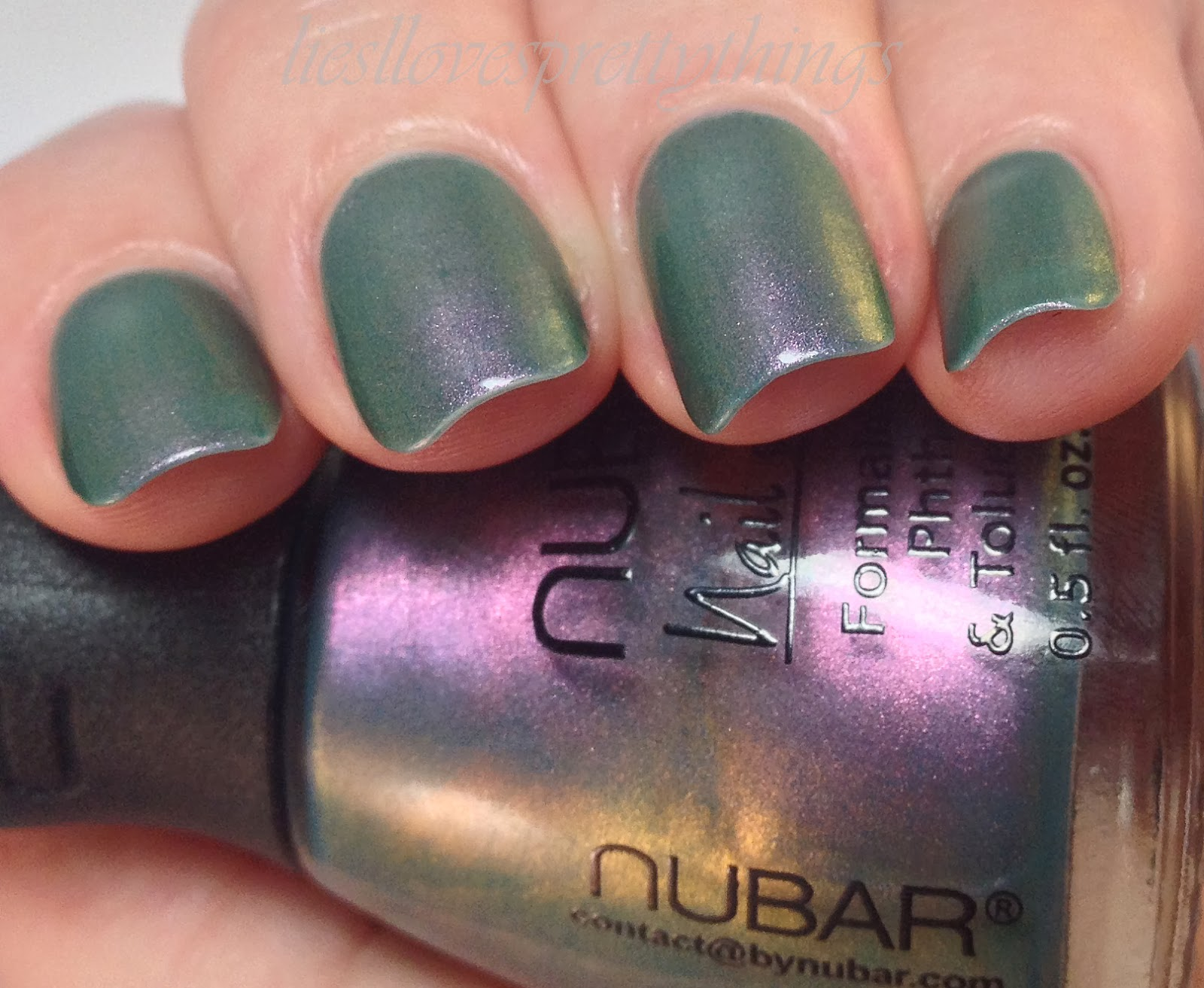 Nubar Indigo Illusion swatch and review