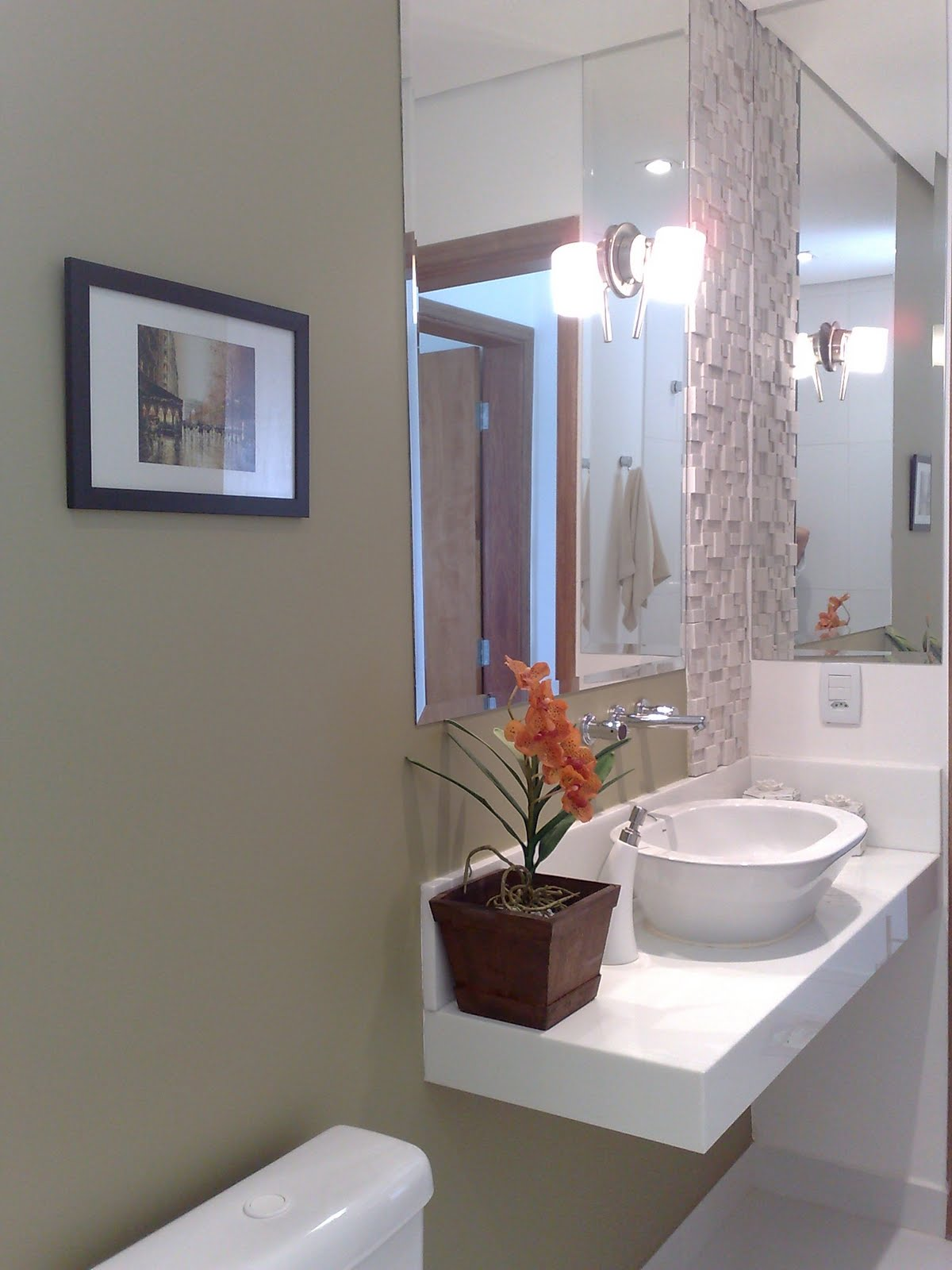 Imagens de #3A5C91 Construindo Minha Casa Clean: Projeto do Lavabo! 1200x1600 px 3692 Banheiros Quadrados Modernos