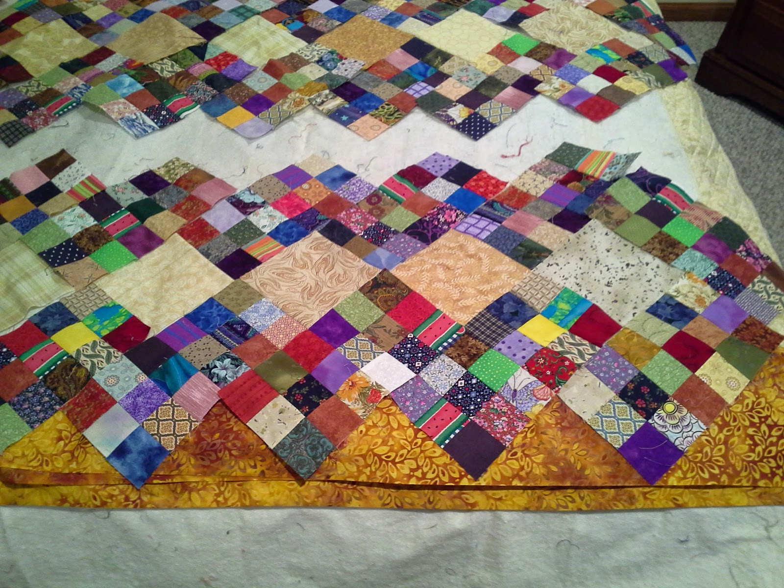 The Ups And Downs Of Quilting Design Wall Monday