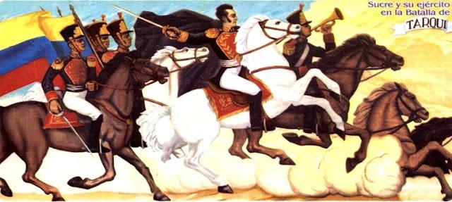 Ilustración de la Batalla de Tarqui