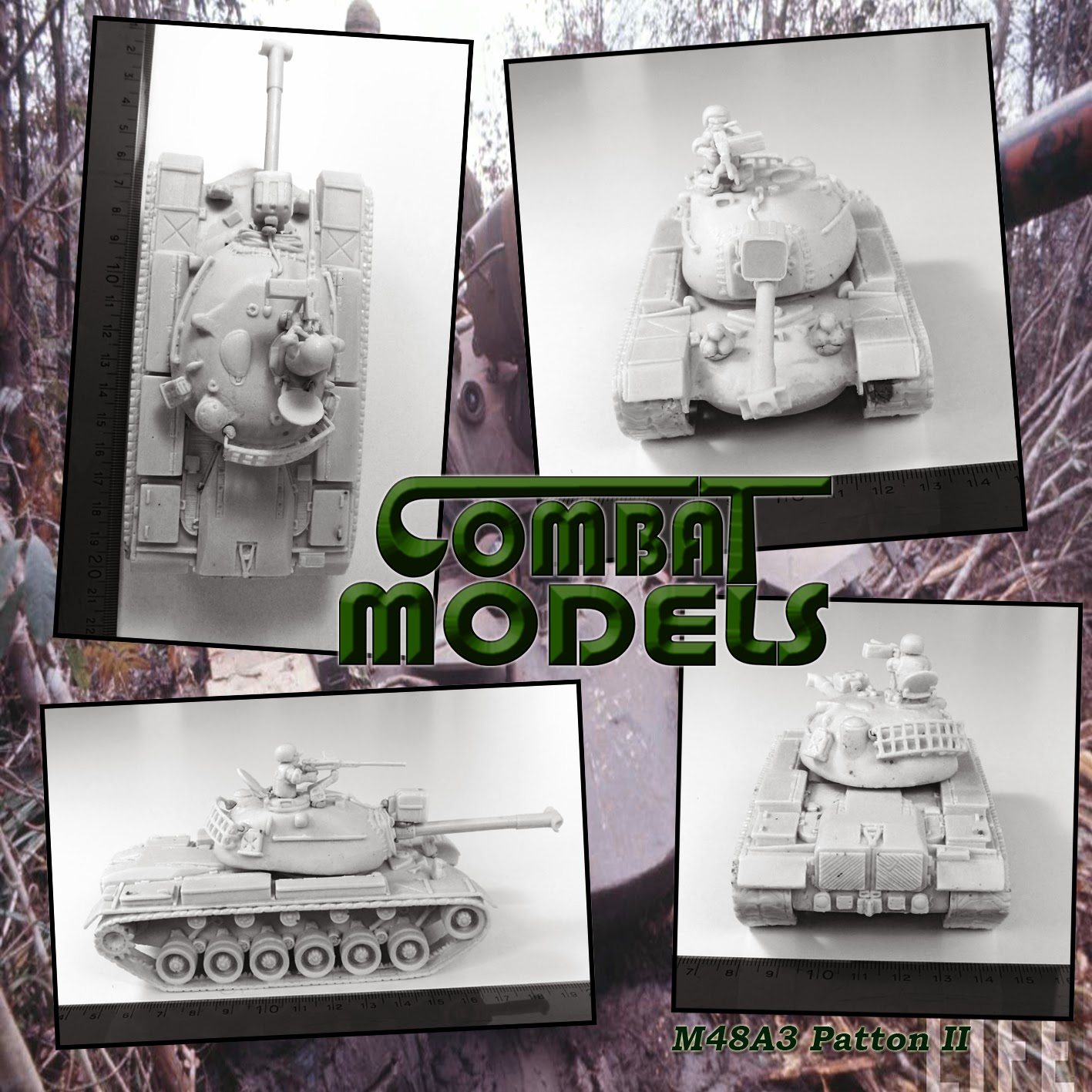 Resin Prototype M48 Combat Models