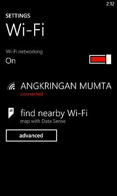 setting wifi Lumia 520