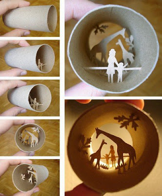 toilet paper roll dioramas