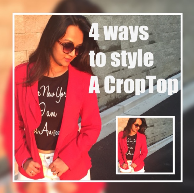 hot to style a crop top, different ways to wear a croptop, Video lookbook for a croptop, indian girl wearing a crop top