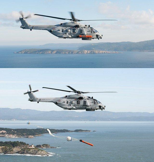 NH90 torpedo drop