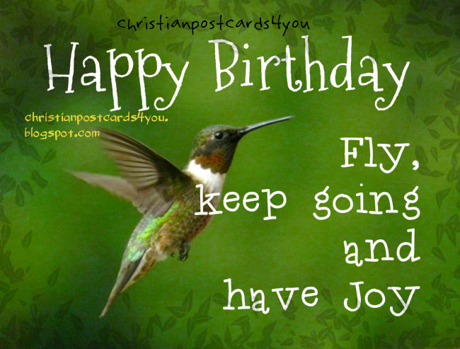 happy birthday, keep going, blessings to you  free christian, Birthday card