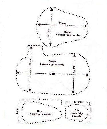 Выкройки рождественских оленей (8)