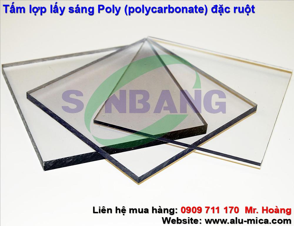 tấm nhựa lợp lấy sáng poly (polycarbonate)