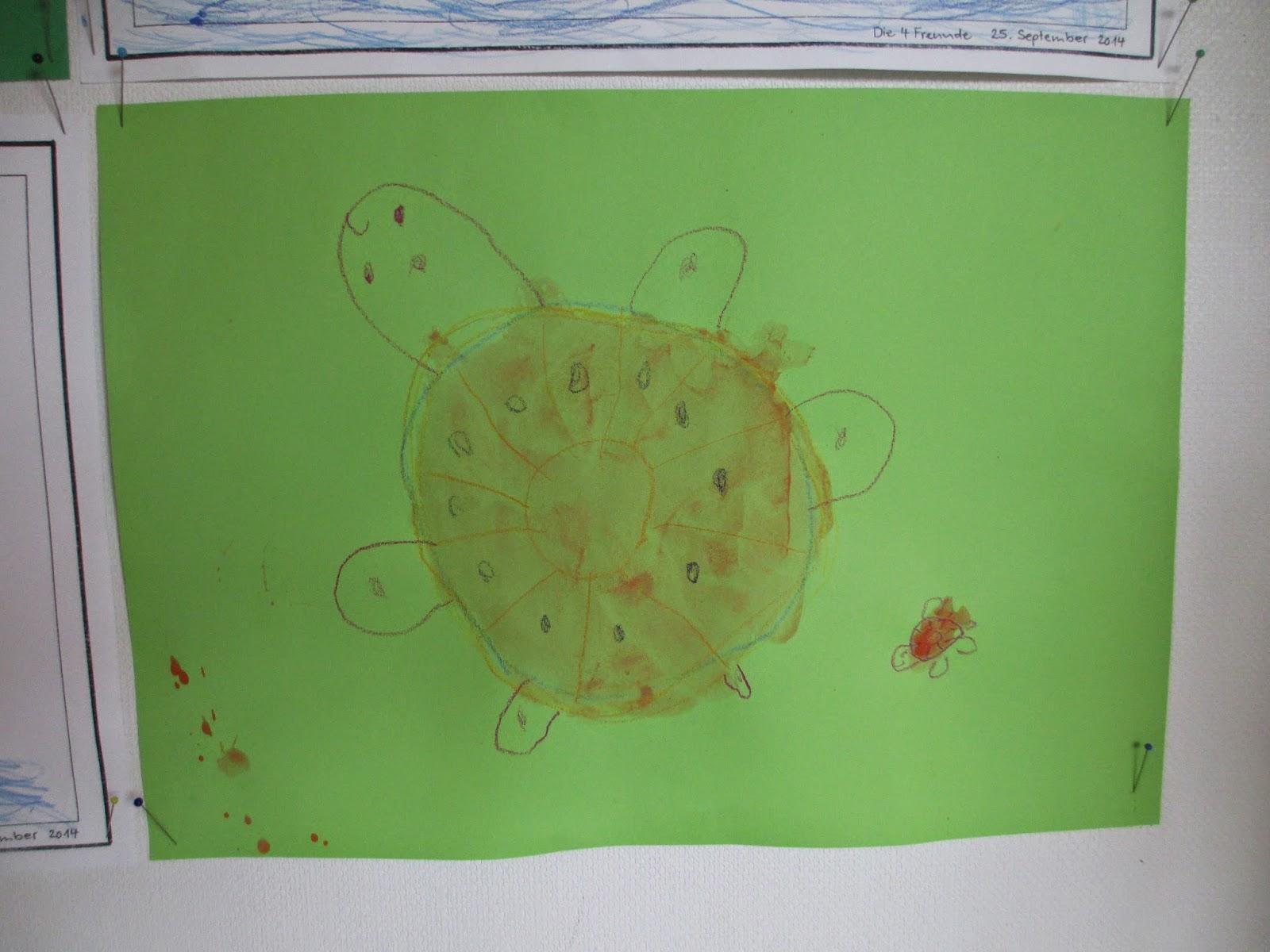 Schildkröte zeichnen Kind 4 Jahre alt
