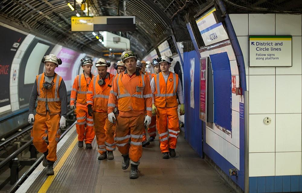 trabajadores del metro de Londres