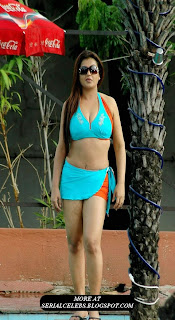 Actress Sona hot in swimsuit