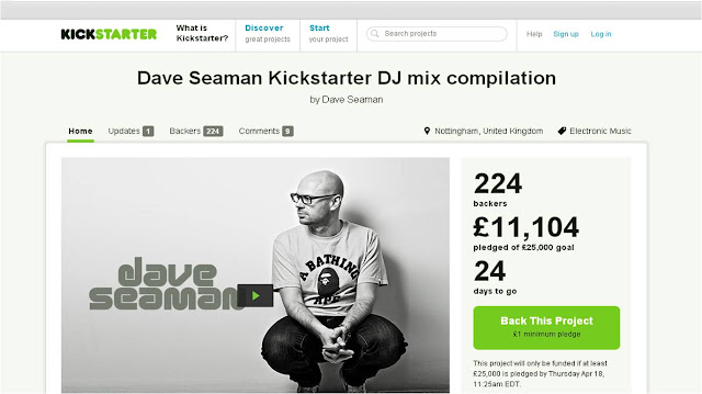 Dave Seaman Kickstarter DJ Mix compilation