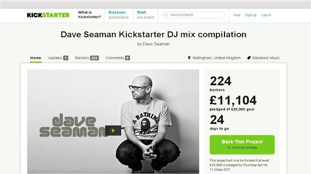 Dave Seaman Kickstarter DJ Mix compilation