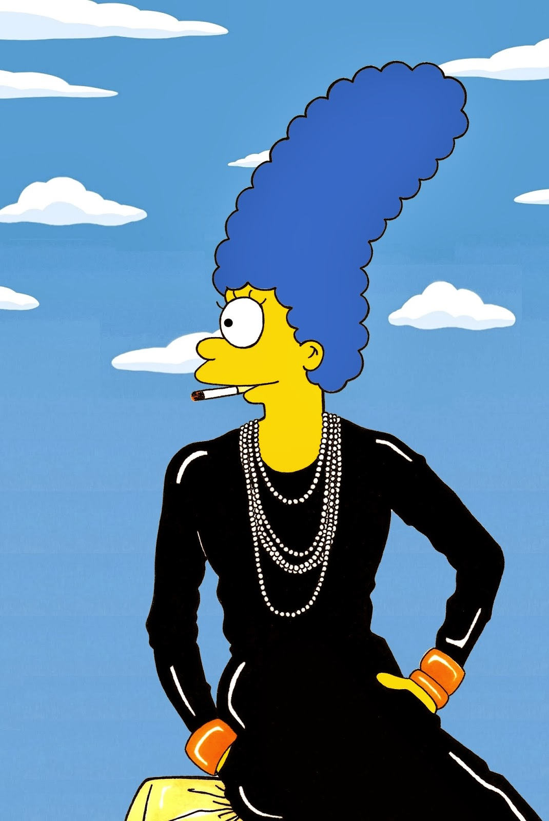 Humor chic art style icon artist alexsandro palombo celebrate marge simpson the most iconic - Marge simpson nud ...