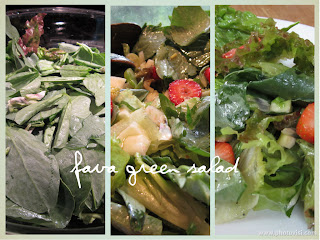 Fava Bean Greens Fennel Lemon Dressing Strawberries Salad Lettuce
