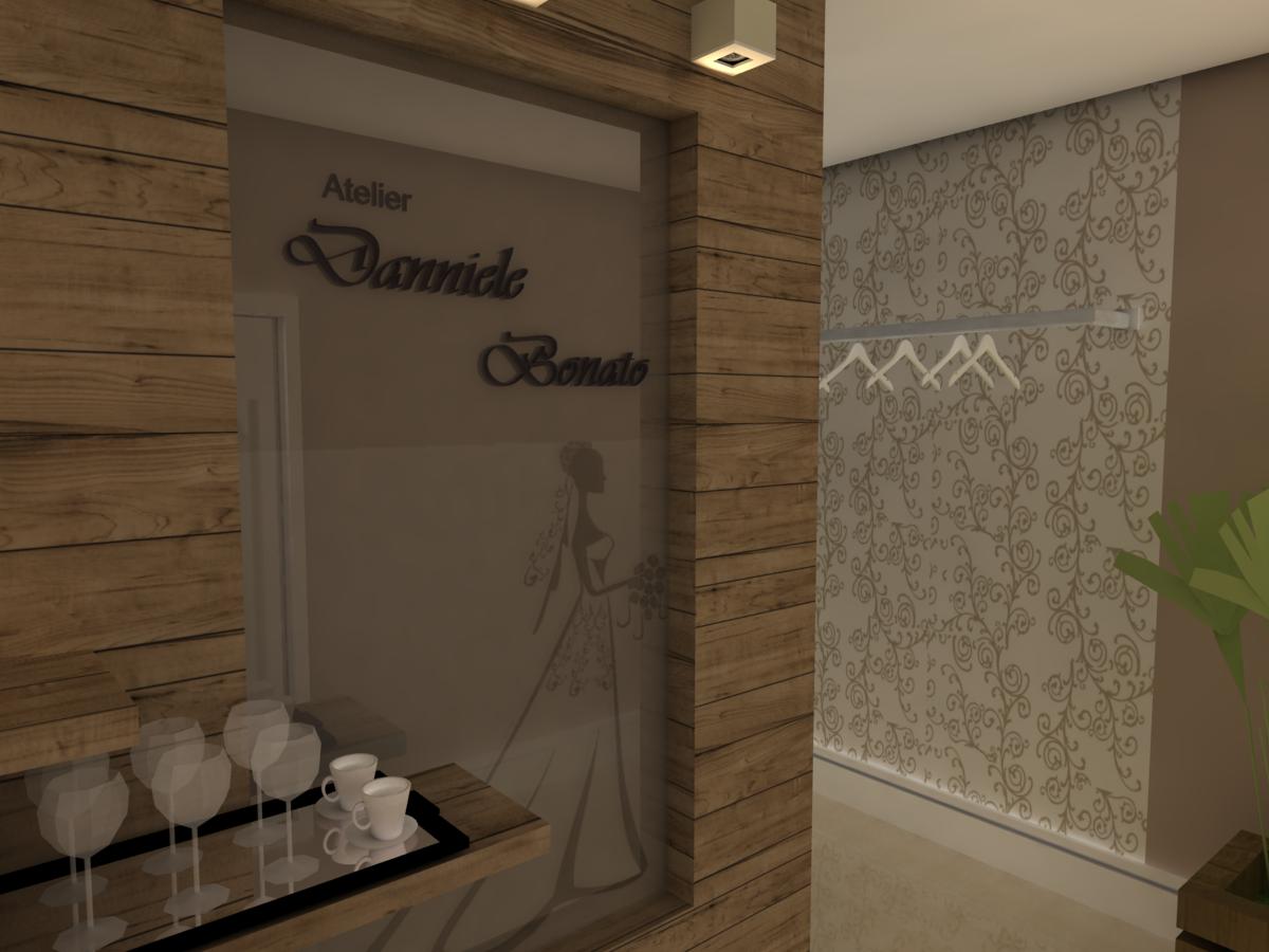 64: Hall de Entrada 3D: Painel em madeira de demolição com aparador  #C5AF06 1200x900