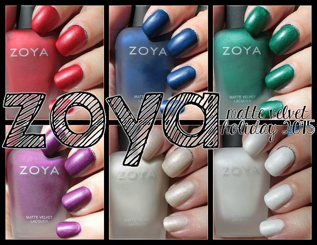 Zoya Matte Velvets for Winter 2015