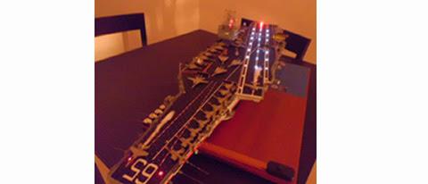 USS ENTERPRISE CVN-65 CON ILUMINACIÓN