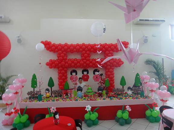 decoracao festa kokeshi:Decoração muito delicada produzida pela mamãe Daniela, dona um