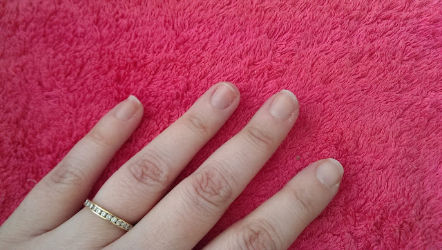 My natural nails before the gel polish applied