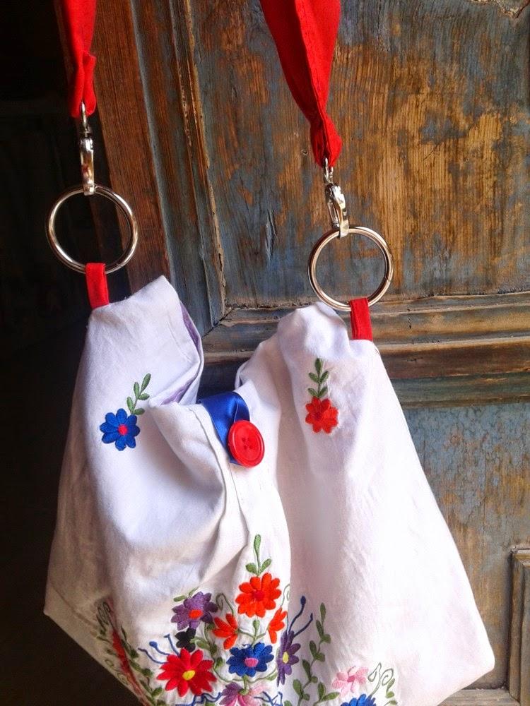 bolso de tela reciclada confección artesanal