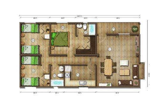 Diseños de Casas, Planos Gratis: Planos de Casas Gratis 85 m2