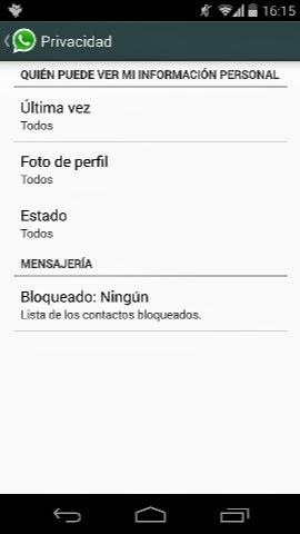 WhatsApp ya permite esconder en Android la última hora vista