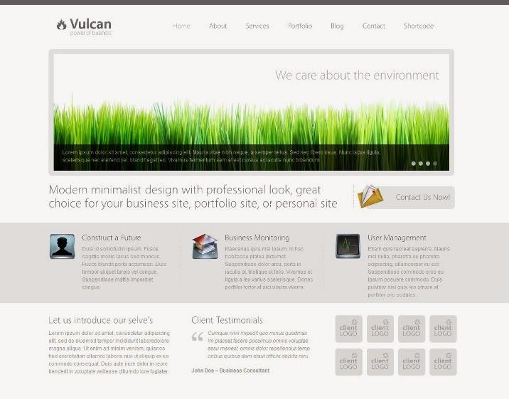 Vulcan - Minimalist Business WordPress Theme