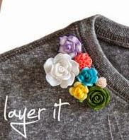 Camiseta reciclada con flores en Recicla Inventa